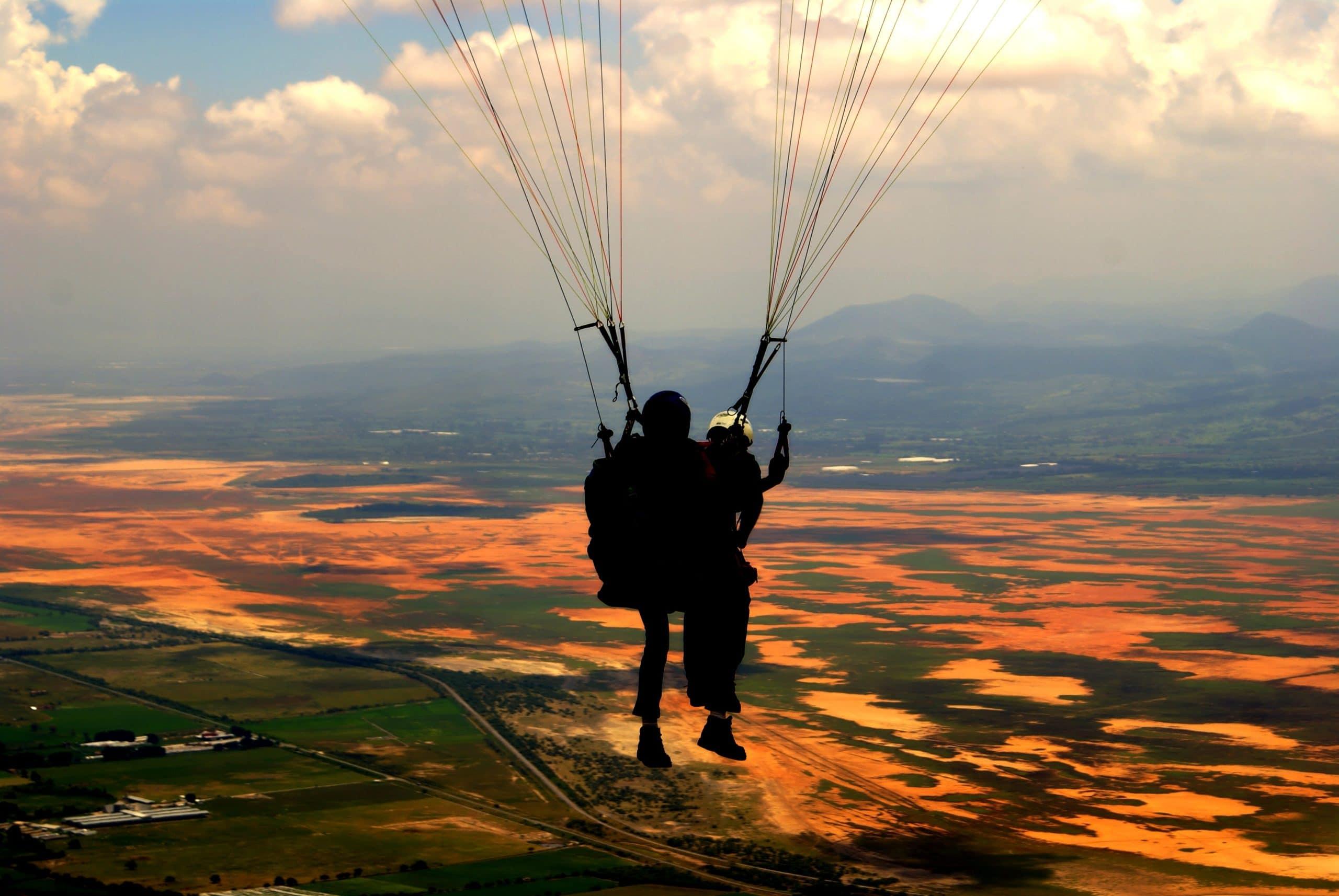 J'ai testé le saut en parachute en tandem